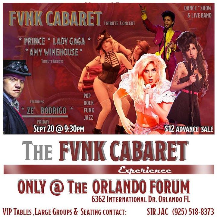 FUNK CABARET - Featuring PRINCE, LADY GAGA & AMY WINEHOUSE Tribute