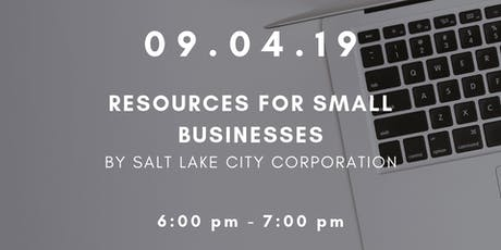 Workshop Wednesdays: Resources for Small Businesses tickets
