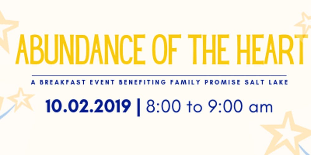 2019 Abundance of the Heart Breakfast benefiting Family Promise Salt