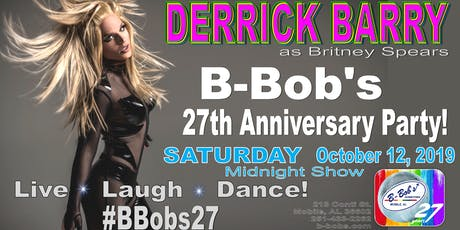 Derrick Barry at B-Bob's 27th Anniversary Party! tickets
