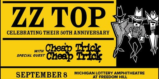 Ride to see ZZ Top & Cheap Trick LIVE