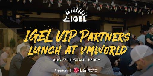 IGEL VIP Partners Lunch at VMworld