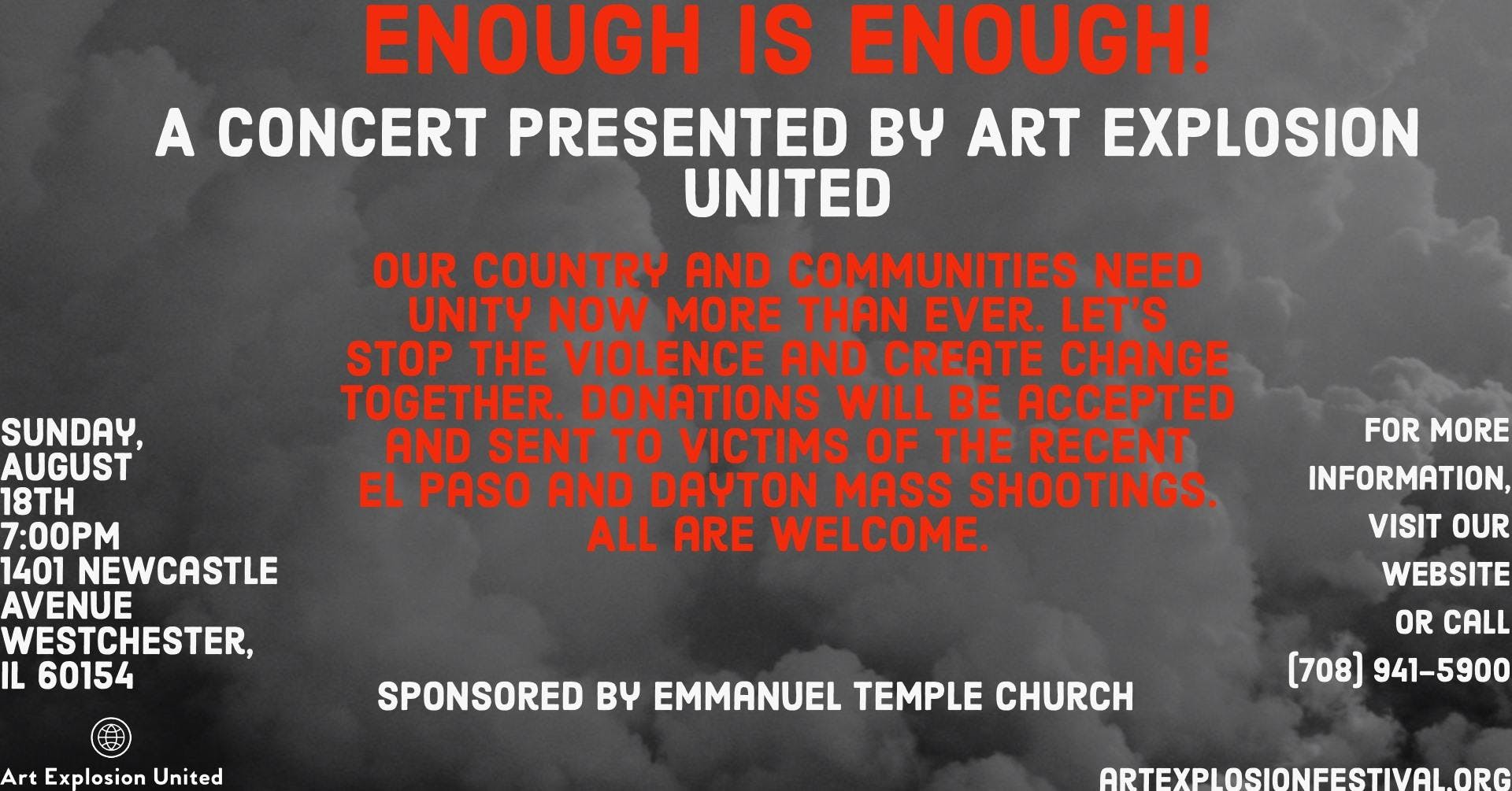 Enough Is Enough! A Concert Presented by Art Explosion United