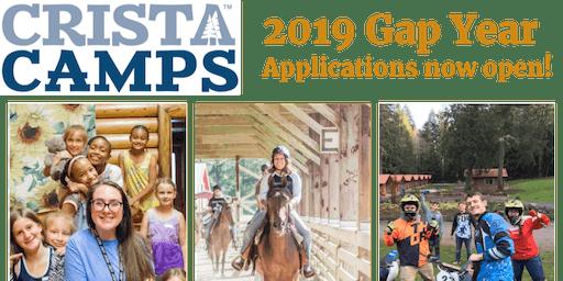 CRISTA Camps                            GAP Year Program