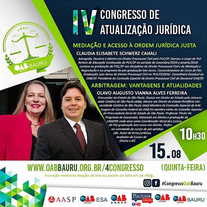 Imagem do evento IV Congresso de Atualização Jurídica