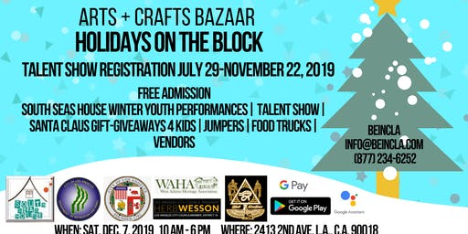 Holidays On The Block Arts & Crafts Bizarre Block Party 2019