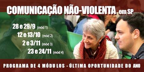 Comunicação Não-Violenta - Programa de 4 módulos - SP ingressos