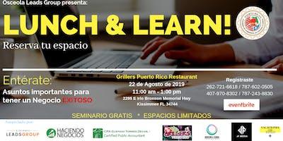 Lunch & Learn!