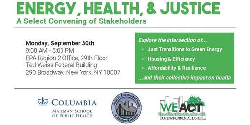 Energy, Health, & Justice: A Select Convening of Stakeholders