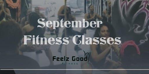 Feelz Good Fitness September Classes