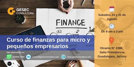 Curso de finanzas para micro y pequeños empresarios boletos