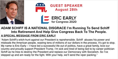 Meet Eric Early, the Candidate Who Wants to Send Schiff Packing! tickets