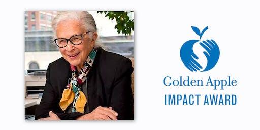 The Golden Apple Impact Award Honoring Barbara Bowman