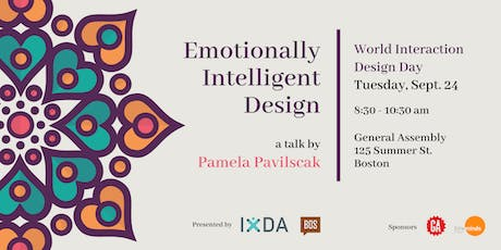 IxDA Boston & Creative Mornings Boston  | Emotionally Intelligent Design tickets