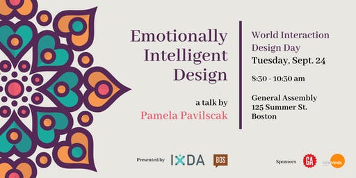 IxDA Boston & Creative Mornings Boston  | Emotionally Intelligent Design