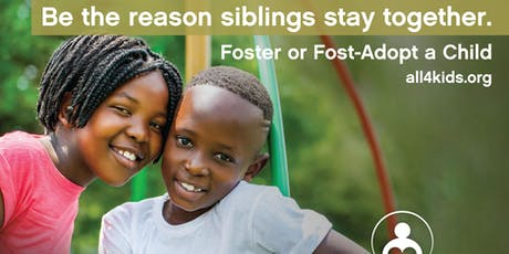 Be the Reason Siblings Stay Together - Become a Resource Parent tickets
