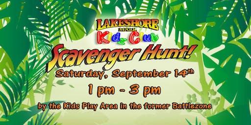 Lakeshore Mall Kidz Club - Scavenger Hunt