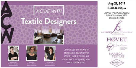 A Chat With: Textile Designers & Hands-On Workshop tickets