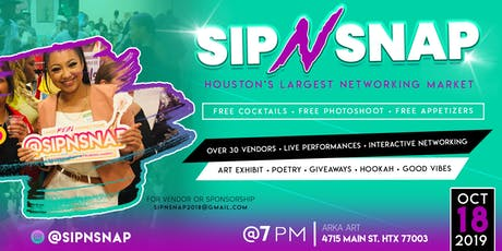 FREE PHOTOSHOOT+ FREE COCKTAILS & BUFFET  #SipNSnap Networking With A Twist tickets