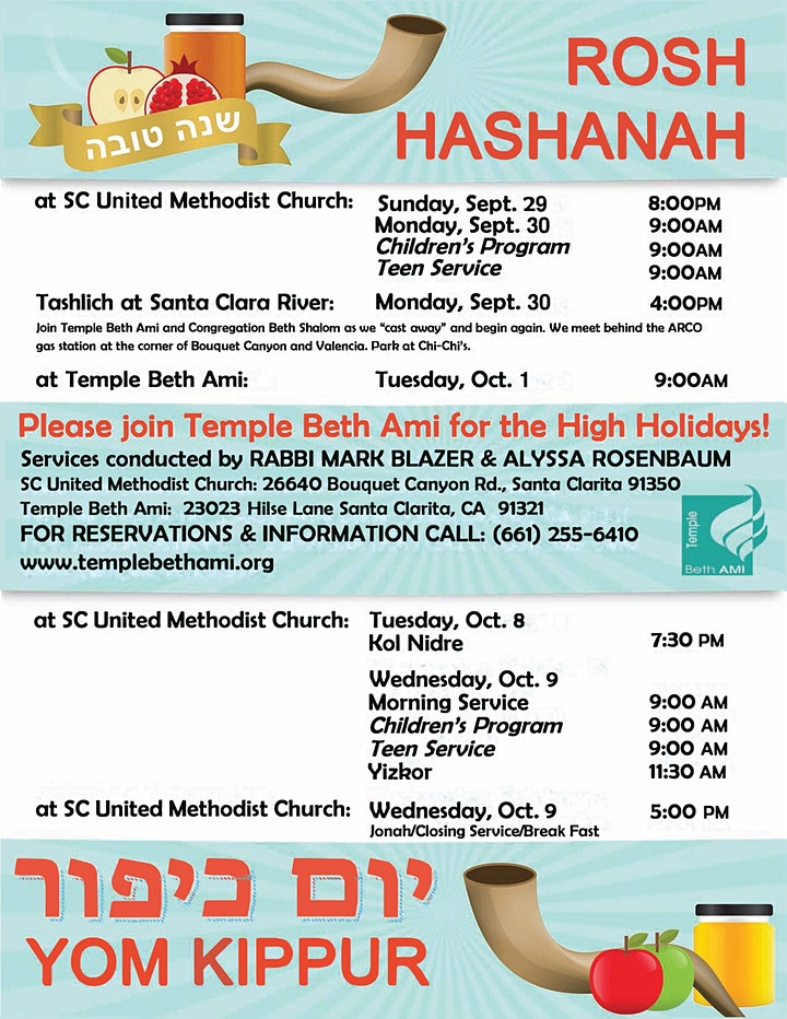 Celebrate High Holidays at Temple Beth Ami image