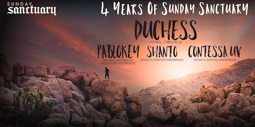4 Years Of Sunday Sanctuary | Duchess, PabloKey, Shanto, Contessa