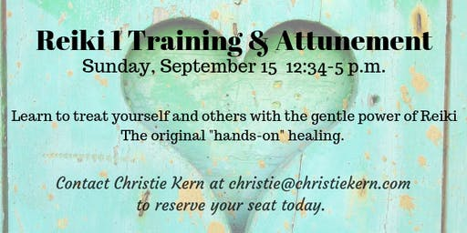 Reiki Level 1 Training and Attunement during Full Moon Energy