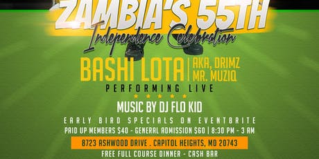 Zambia's 55th Independence Celebration tickets