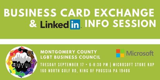 Business Card Exchange & Linkedin Info Session