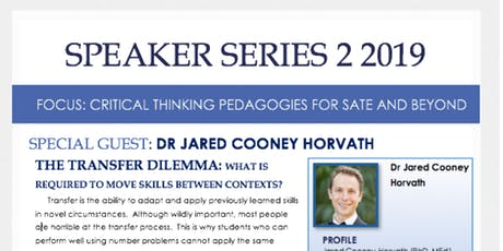 SPEAKER SERIES 2: CRITICAL THINKING PEDAGOGIES FOR SATE AND BEYOND tickets