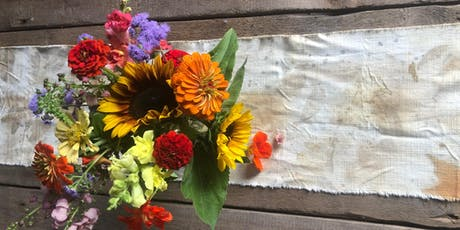 Eco-print a Fall Linen Table Runner with Leaves - Sept 15, 1:00 tickets