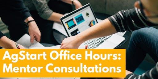 AgStart Office Hours - Mentor Consultations - October 8, 2019