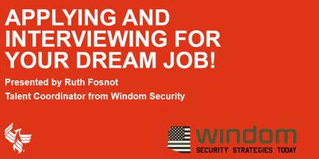 Applying and Interviewing for Your Dream Job! tickets