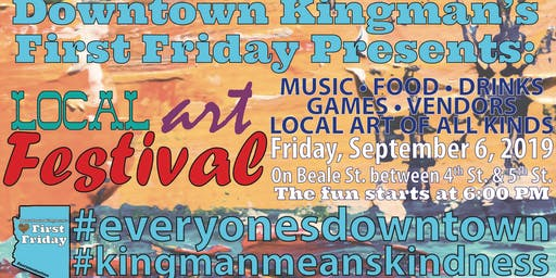 Downtown Kingman's First Friday Local Art Festival