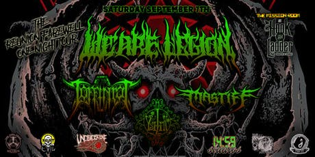 We Are Legion with Coffinrot, Mastiff, and Ysilik tickets