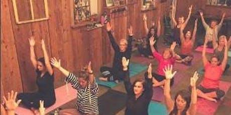 Chardonnay and Namaste aka Yoga Happy Hour tickets