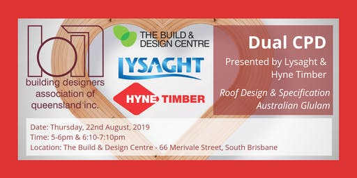 Dual CPD with Lysaght & Hyne Timber