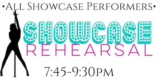 Monday 8/19-- Showcase Rehearsal