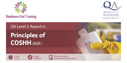 QA L2 Award in Principles of COSHH (RQF)