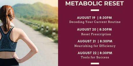 Metabolic Reset for Women's Health {Online Training Only}  tickets