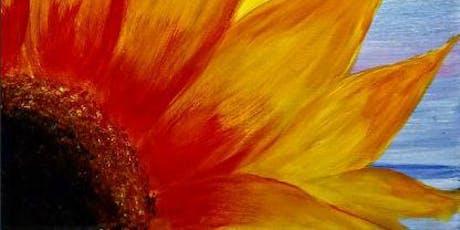 Paint Wine Denver Sunflower Burst Wed Sept 18th 6:30pm $35 tickets