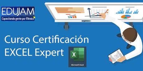 Curso-Certificación Excel Expert sesión 1 de 3 boletos
