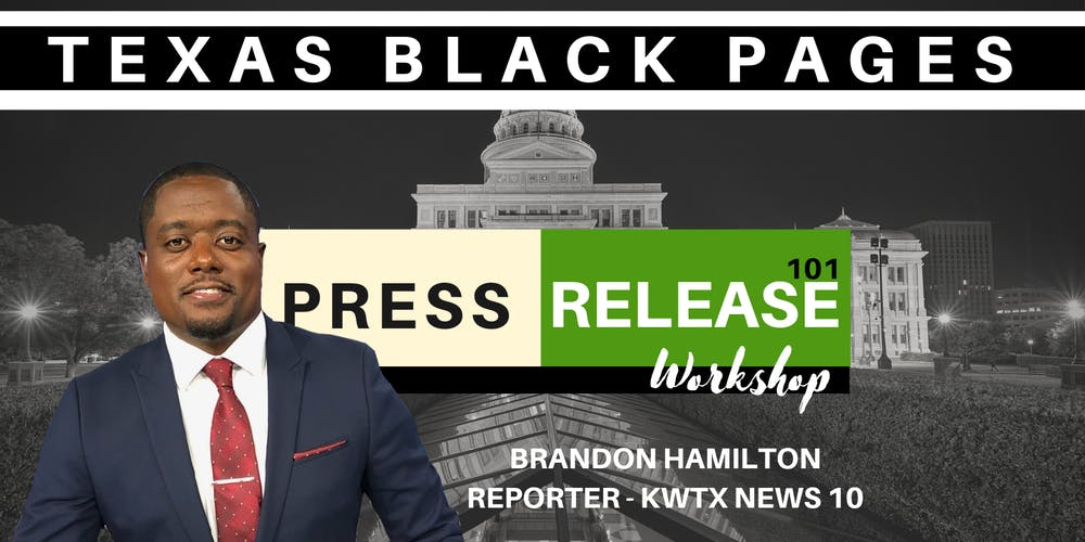 Press Release Workshop 101 by Brandon Hamilton Tickets, Sat
