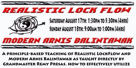 Modern Arnis - Lock Flow and Balinatwak Weekend Seminar with Fred Shadian tickets