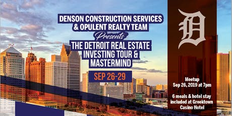 The Real Detroit Real Estate Investing Tour - 2019 Edition tickets