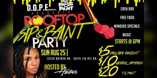 RoofTop sip & paint Day Party