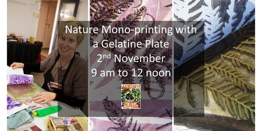 Nature Mono-printing with a Gelatine Plate