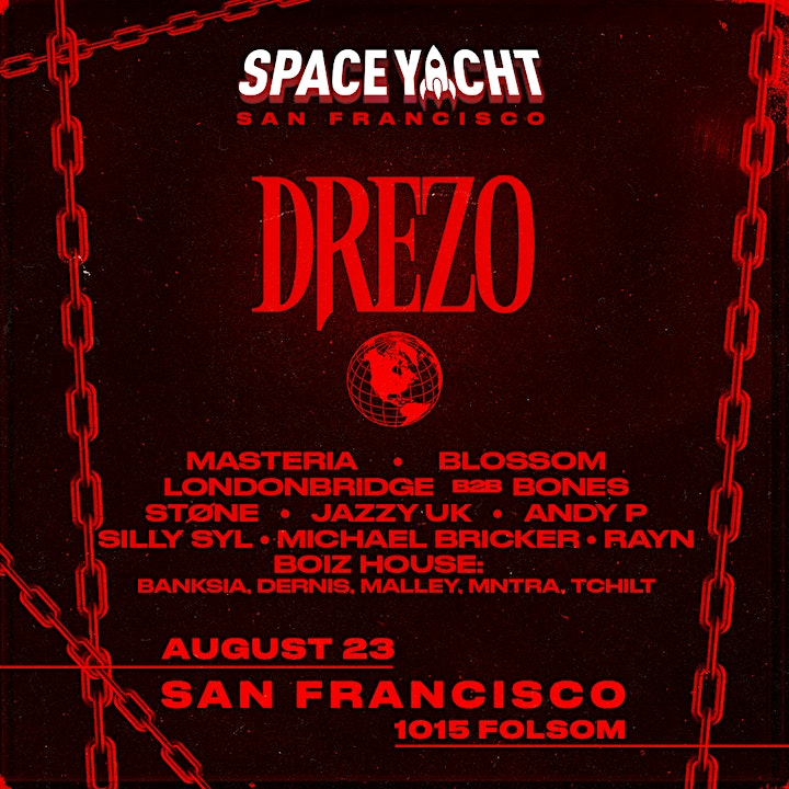 SPACE YACHT SF with DREZO & special guests at 1015 FOLSOM image