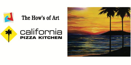 Fun Painting Event at California Pizza Kitchen. FOOD & WINE INCLUDED!