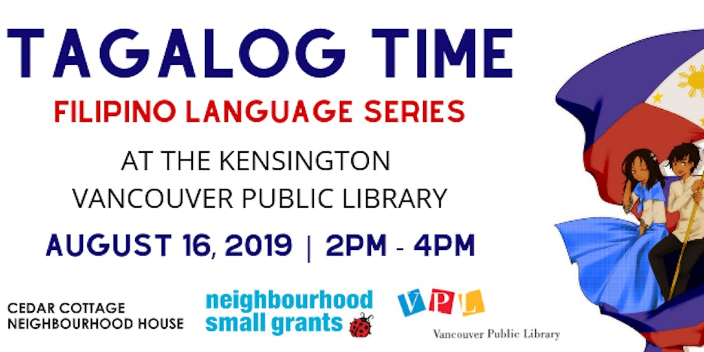 Tagalog Time at VPL: Filipino Language Series Tickets, Fri, Aug 16