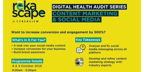 Digital Health Audit: Content Marketing & Social Media tickets